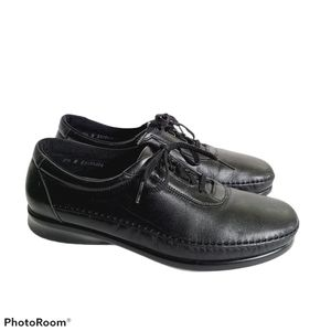 SAS 8.5 Narrow Black Shoes Lace Up Loafer Comfort